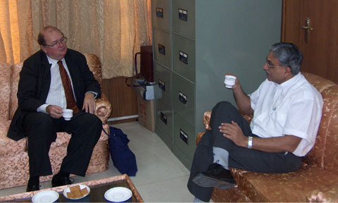 Lasse Pettersson meeting with Secretary, MoES, Govt.of India